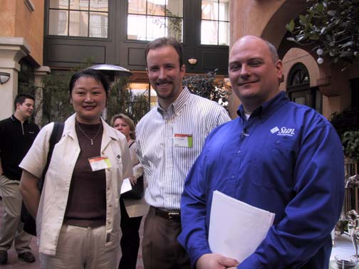 Emily Xu, Dan Dinhoble, and Pat Patterson of Sun